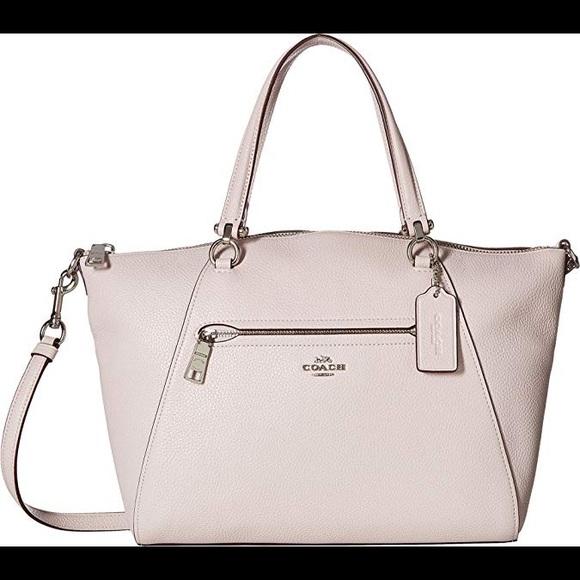 20445dda7d8e Coach Handbags - NWOT Coach Pebble Prairie Satchel Ice pink